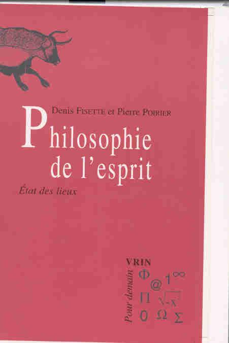 PHILOSOPHIE DE L'ESPRIT ETAT DES LIEUX