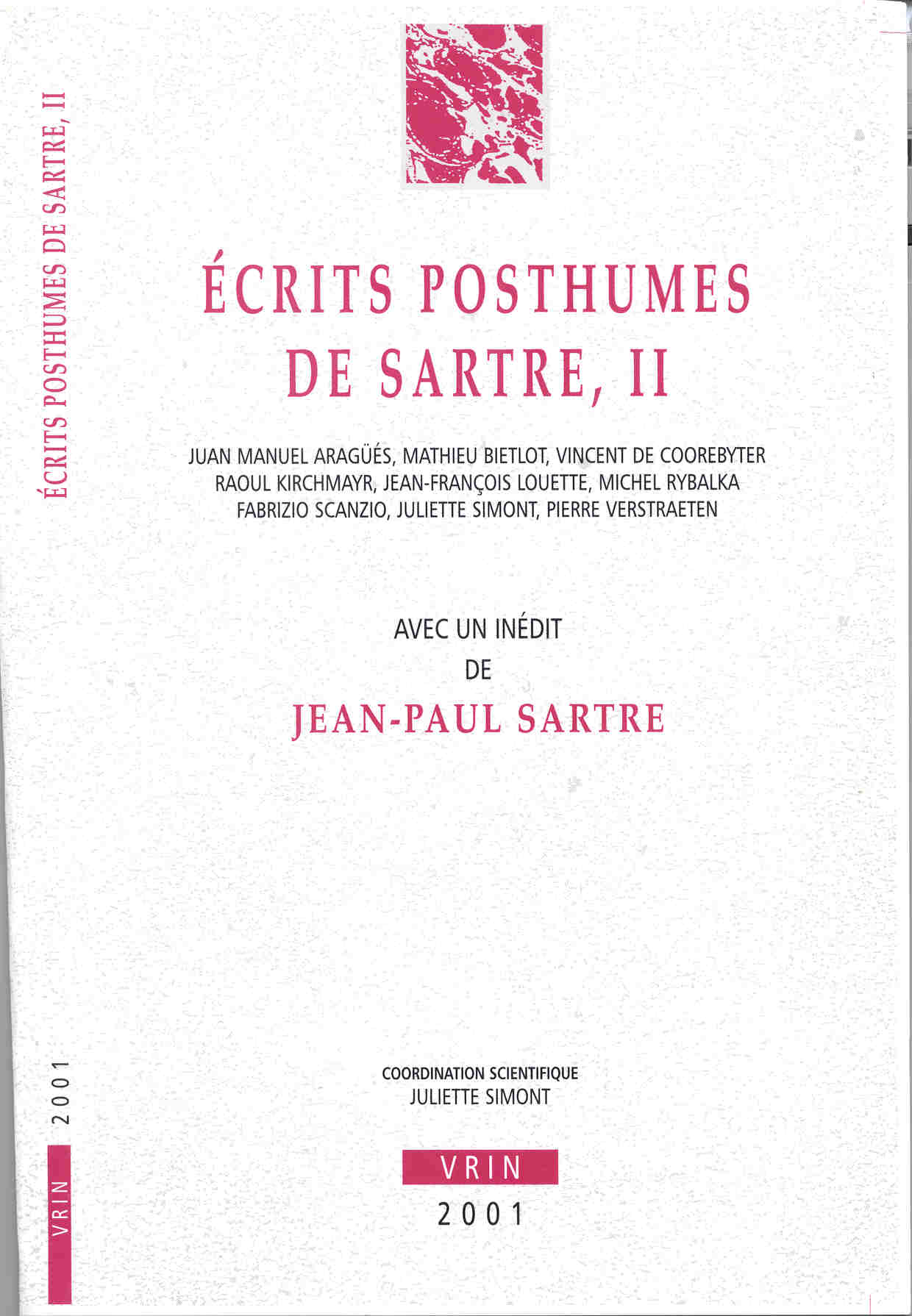 ANN UNIV BRUXELLES 2001,  ECRITS POSTHUMES DE SARTRE II
