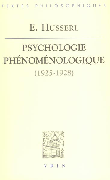 PSYCHOLOGIE PHENOMENOLOGIQUE