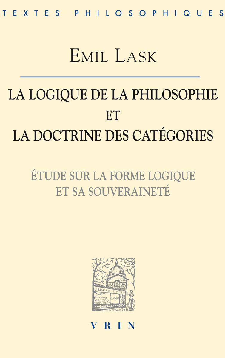 LA LOGIQUE DE LA PHILOSOPHIE ET LA DOCTRINE DES CATEGORIES