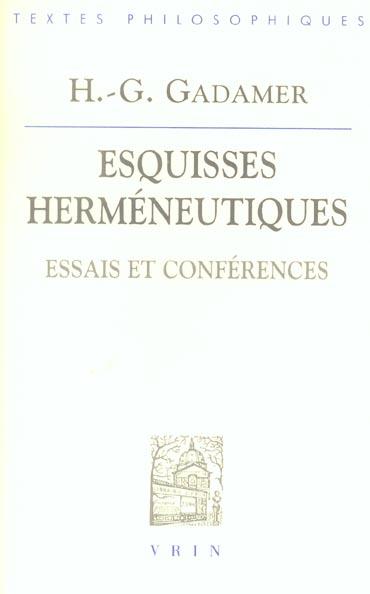 ESQUISSES HERMENEUTIQUES