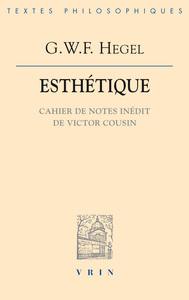 COURS D'ESTHETIQUE - INEDIT VICTOR COUSIN