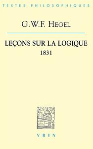 LECONS SUR LA LOGIQUE (1831)