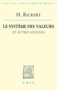 LE SYSTEME DES VALEURS ET AUTRES ARTICLES