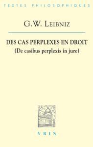 DES CAS PERPLEXES EN DROIT