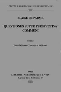 QUESTIONES SUPER PERSPECTIVA COMMUNI