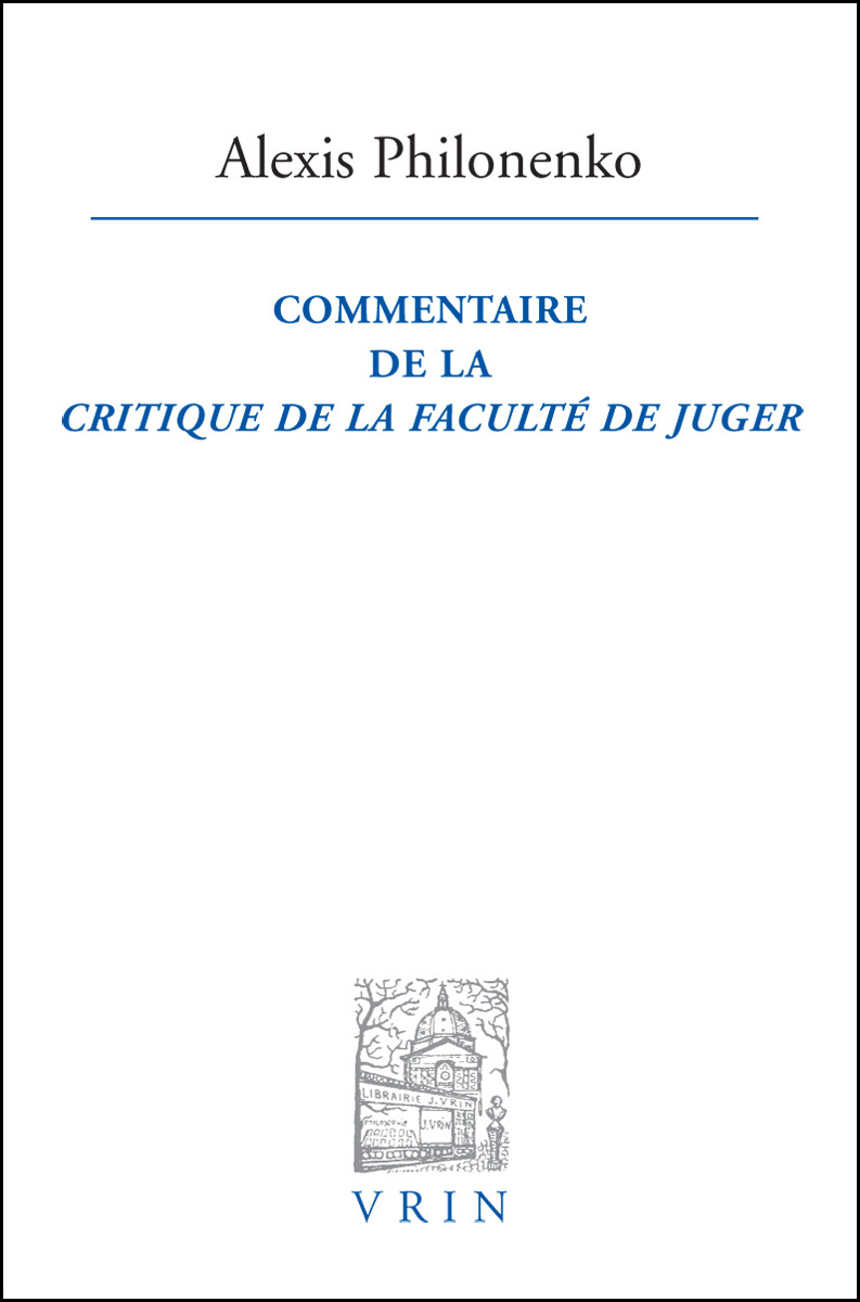 COMMENTAIRE DE LA CRITIQUE DE LA FACULTE DE JUGER