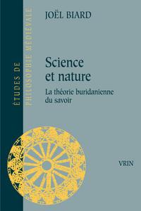 SCIENCE ET NATURE LA THEORIE BURIDANIENNE DU SAVOIR