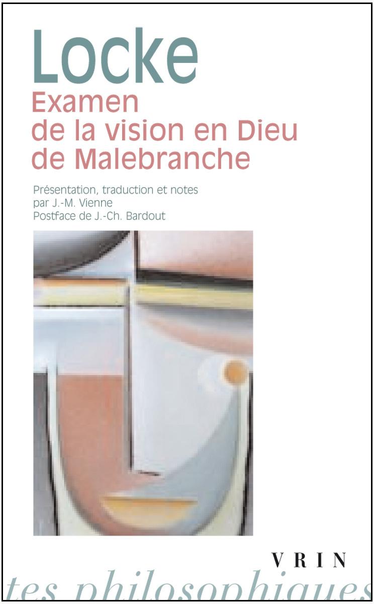 EXAMEN DE LA VISION EN DIEU DE MALEBRANCHE