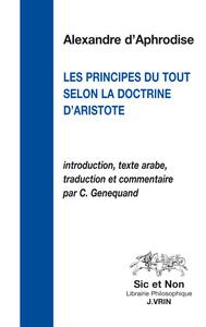 LES PRINCIPES DU TOUT SELON LA DOCTRINE D ARISTOTE