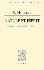 NATURE ET ESPRIT LECONS DU SEMESTRE D ETE 1927