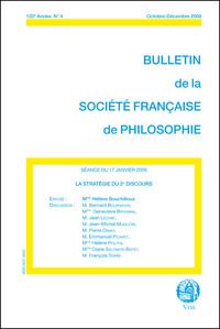 LA STRATEGIE DU 2E DISCOURS (BULLETIN SFP 2008/4)