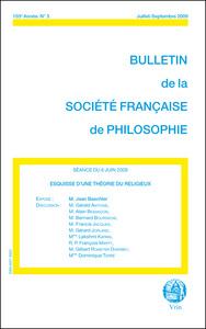 ESQUISSE D UNE THEORIE DU RELIGIEUX (BULLETIN SFP 2009/3)
