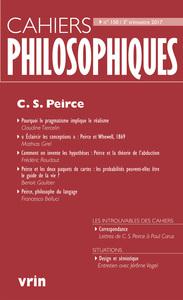 CAHIERS PHILOSOPHIQUES, N. 150 (3/2017) C S PEIRCE