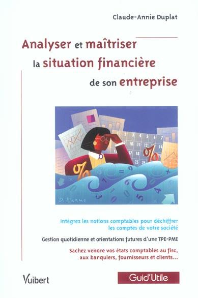 N.43 ANALYSER ET MAITRISER LA SITUATION FINANCIERE DE SON ENTREPRISE