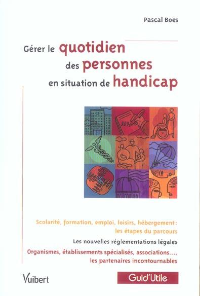 N.53 GERER LE QUOTIDIEN DES PERSONNES EN SITUATION DE HANDICAP
