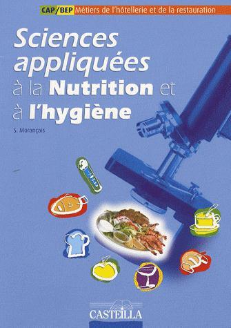 SCIENCES APPLIQUEES A LA NUTRITION ET A L'HYGIENE