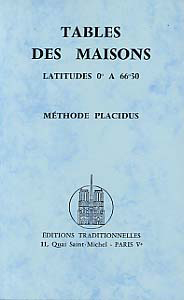 TABLE DES MAISONS DE 0 A 66 30 - METHODE PLACIDUS