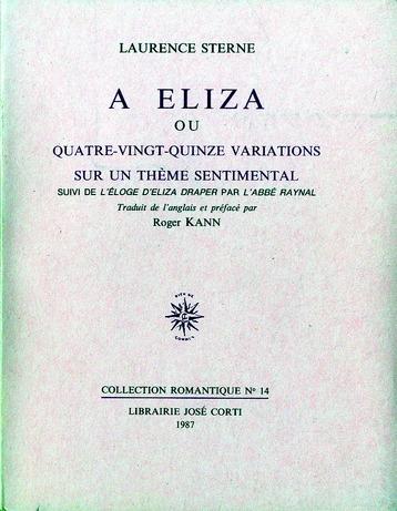 A ELIZA OU QUATRE-VINGT-QUINZE VARIATIONS SUR UN THEME SENTIMENTAL