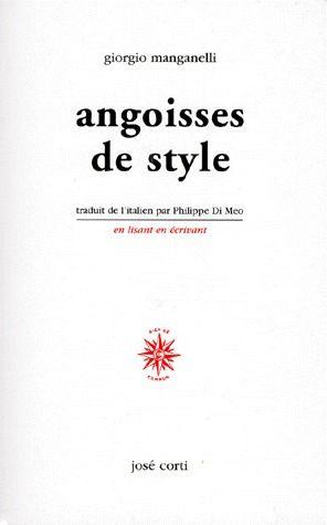 ANGOISSES DE STYLE