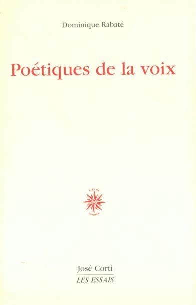 POETIQUES DE LA VOIX