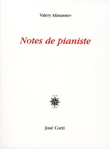 NOTES DE PIANISTE