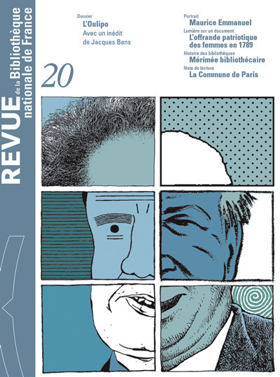REVUE DE LA BNF 20. L'OULIPO