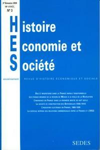 HISTOIRE, ECONOMIE ET SOCIETE 3/2000