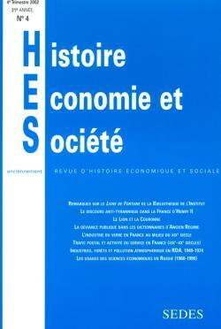 HISTOIRE, ECONOMIE & SOCIETE 4/2002