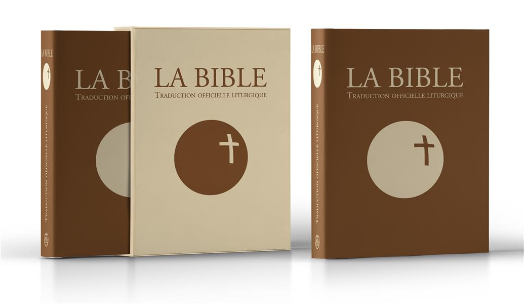 LA BIBLE - TRADUCTION OFFICIELLE LITURGIQUE  CUIR MARRON