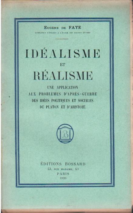 IDEALISME ET REALISME