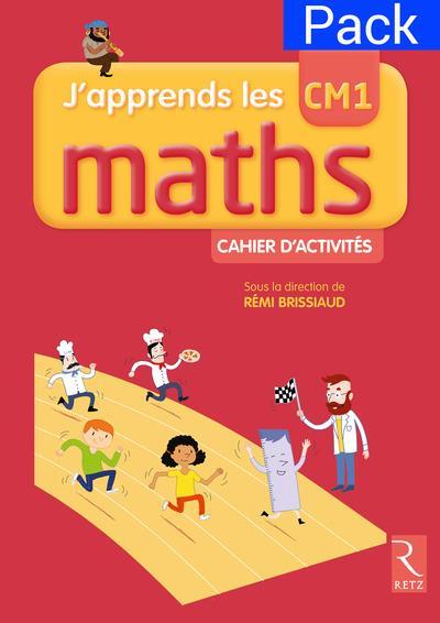 Pack de 6 cahiers d'activites j'apprends les mathscm1