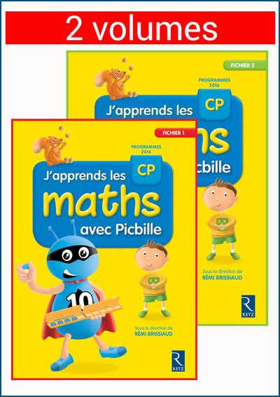 J'apprends les maths avec picbille cp - 2 volumes sous blister