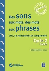 DES SONS AUX MOTS, DES MOTS AUX PHRASES - LIRE, SEREPRESENTER - CYCLE 2 RASED + CD-ROM