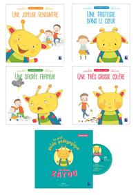 LES ALBUMS DE ZATOU - 4 ALBUMS + CD AUDIO + LIVRET PEDAGOGIQUE