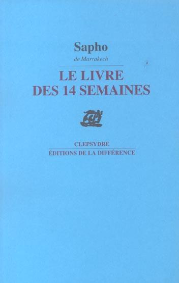 LE LIVRE DES 14 SEMAINES