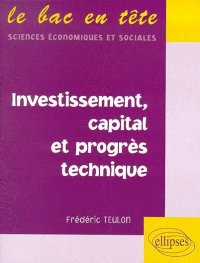 INVESTISSEMENT, CAPITAL ET PROGRES TECHNIQUE