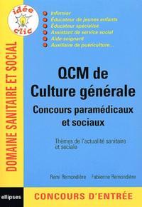 QCM DE CULTURE GENERALE - CONCOURS PARAMEDICAUX ET SOCIAUX