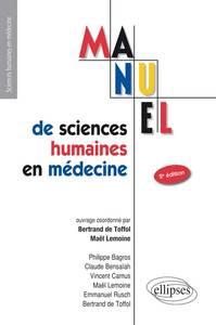UE7 - MANUEL DE SCIENCES HUMAINES EN MEDECINE - 2E EDITION