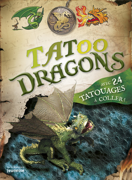 TATOO DRAGONS. AVEC 24 TATOUAGES A COLLER