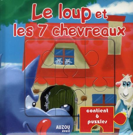 LE LOUP ET LES 7 CHEVREAUX CONTIENT 6 PUZZLES