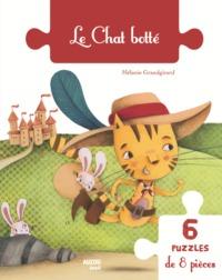 LE CHAT BOTTE 6 PUZZLES DE 8 PIECES