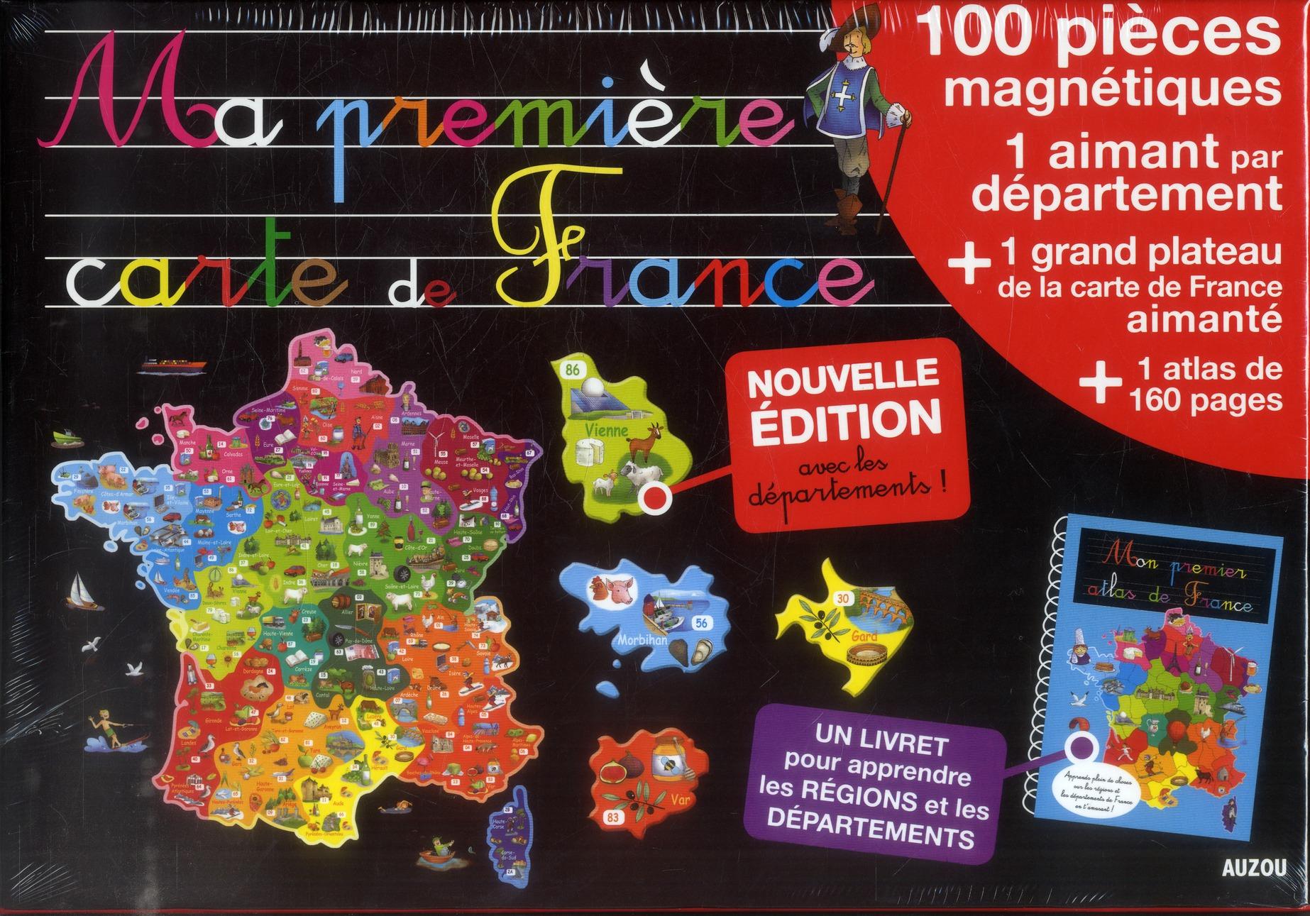 A LA DECOUVERTE DE  - MA PREMIERE CARTE DE FRANCE (NOUVELLE EDITION)