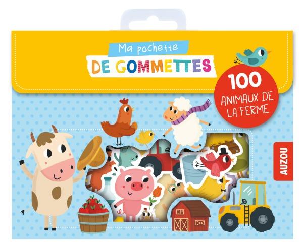 MA POCHETTE DE GOMMETTES - 100 GOMMETTES A LA FERME - 100 ANIMAUX DE LA FERME