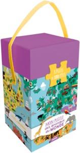 MON PUZZLE DES ANIMAUX DU MONDE (COLL. BOITE PUZZLE) - 1 PUZZLE DE 100 PIECES