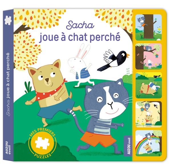 SACHA JOUE A CHAT PERCHE