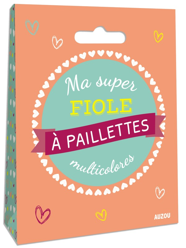 LOT DE 2 SUPER FIOLES A PAILLETTES MULTICOLORES