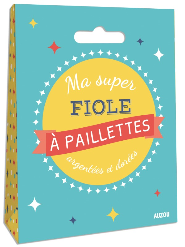LOT DE 2 SUPER FIOLES A PAILLETTES ARGENTEES ET DOREES