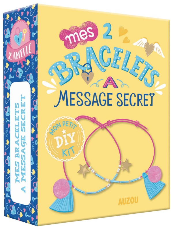 MON PETIT KIT DIY - MES 2 BRACELETS A MESSAGE SECRET