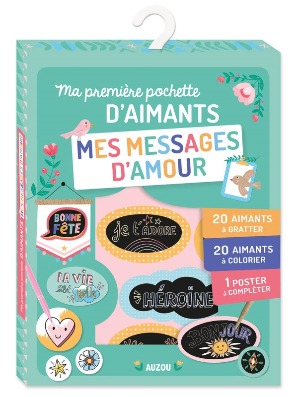 MA PREMIERE POCHETTE D'AIMANTS - MES MESSAGES D'AMOUR